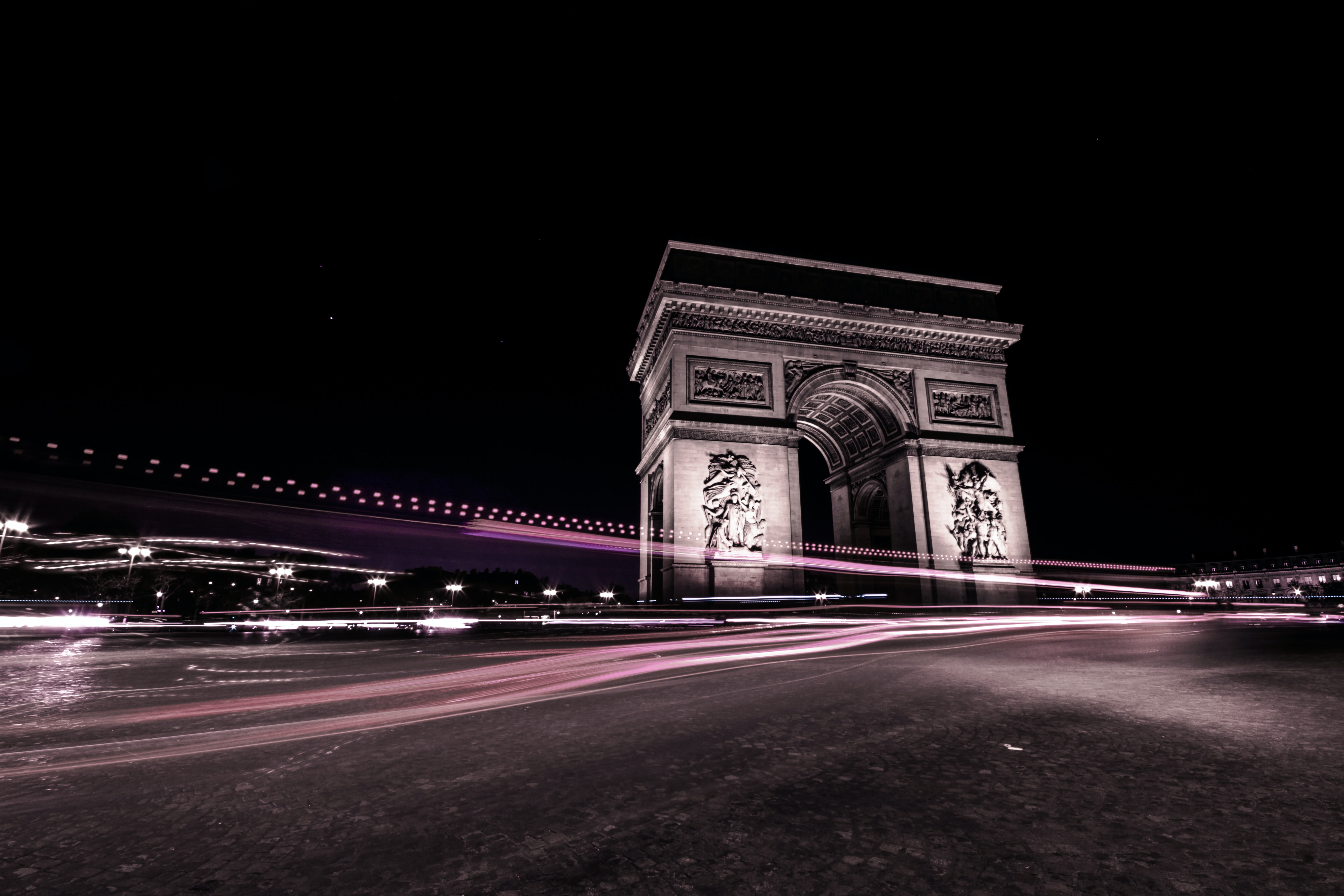 time-lapse photography of Arc de Triomphe, Paris France