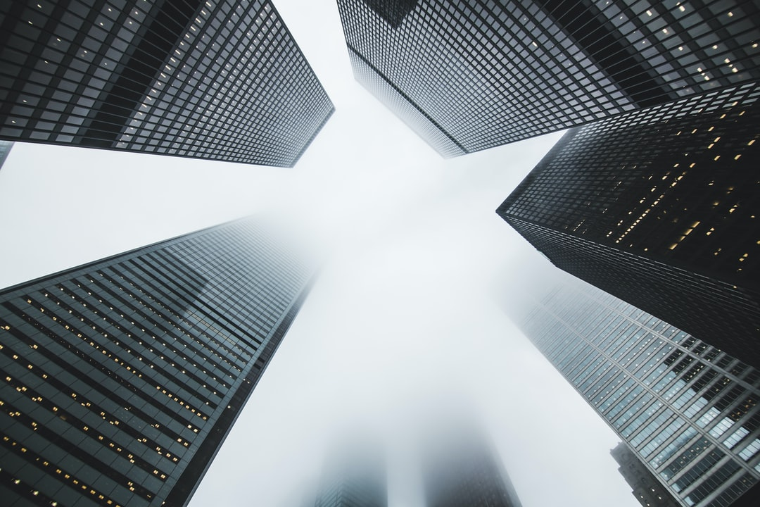 Foggy skyscrapers