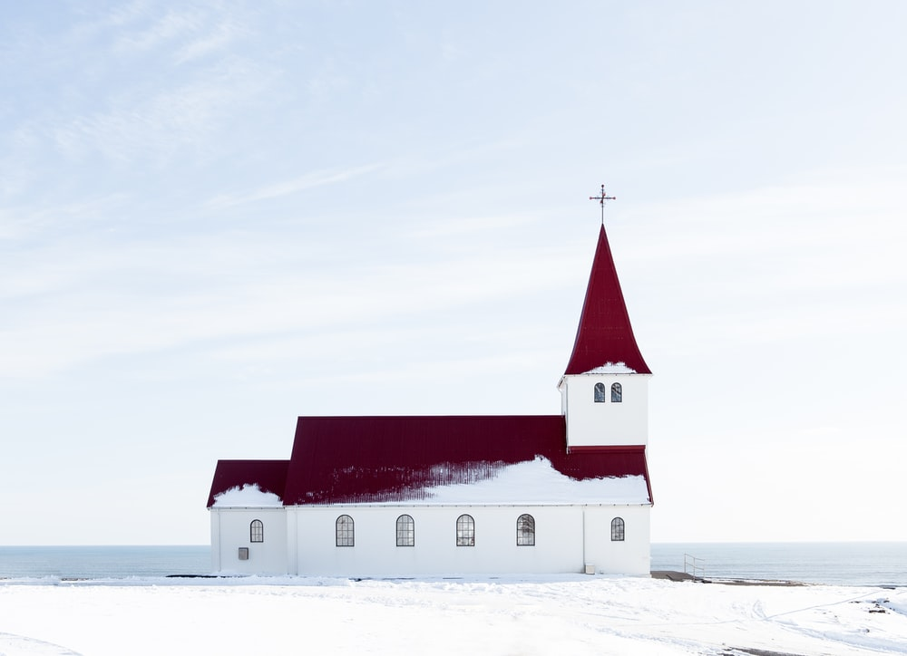 white and red concrete cathedral