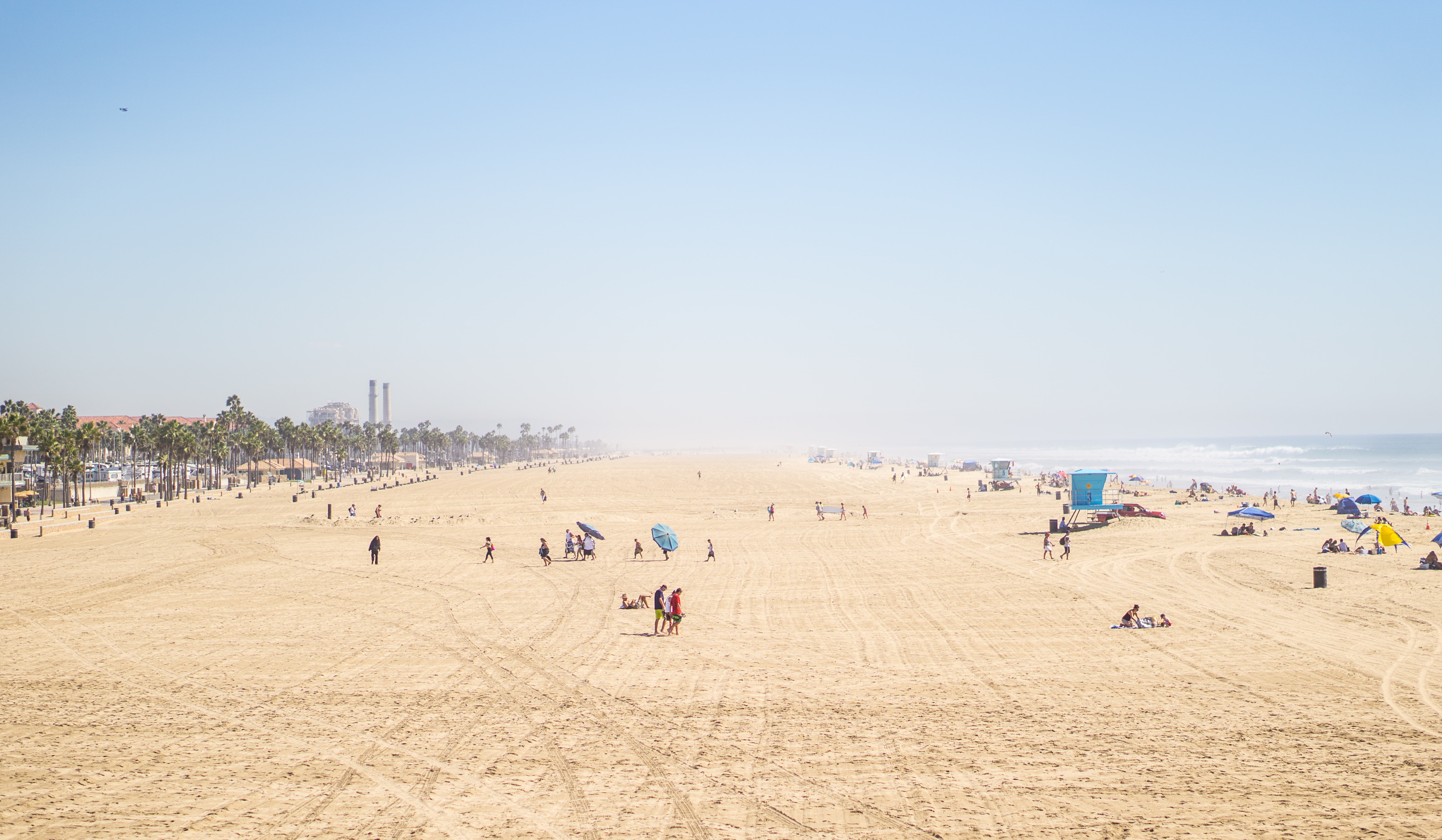 Large sea shore proves to be huge tourist attraction at the beach during summer