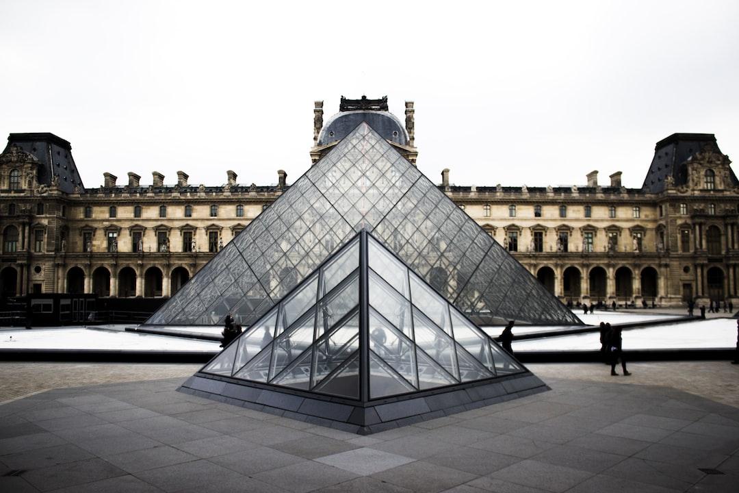 """The Louvre Museum pyramids"""