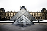 """The Louvre Museum pyramids"""