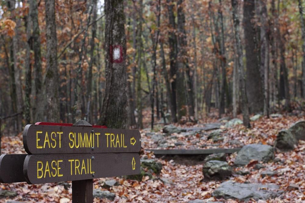 East Summit Trail signage