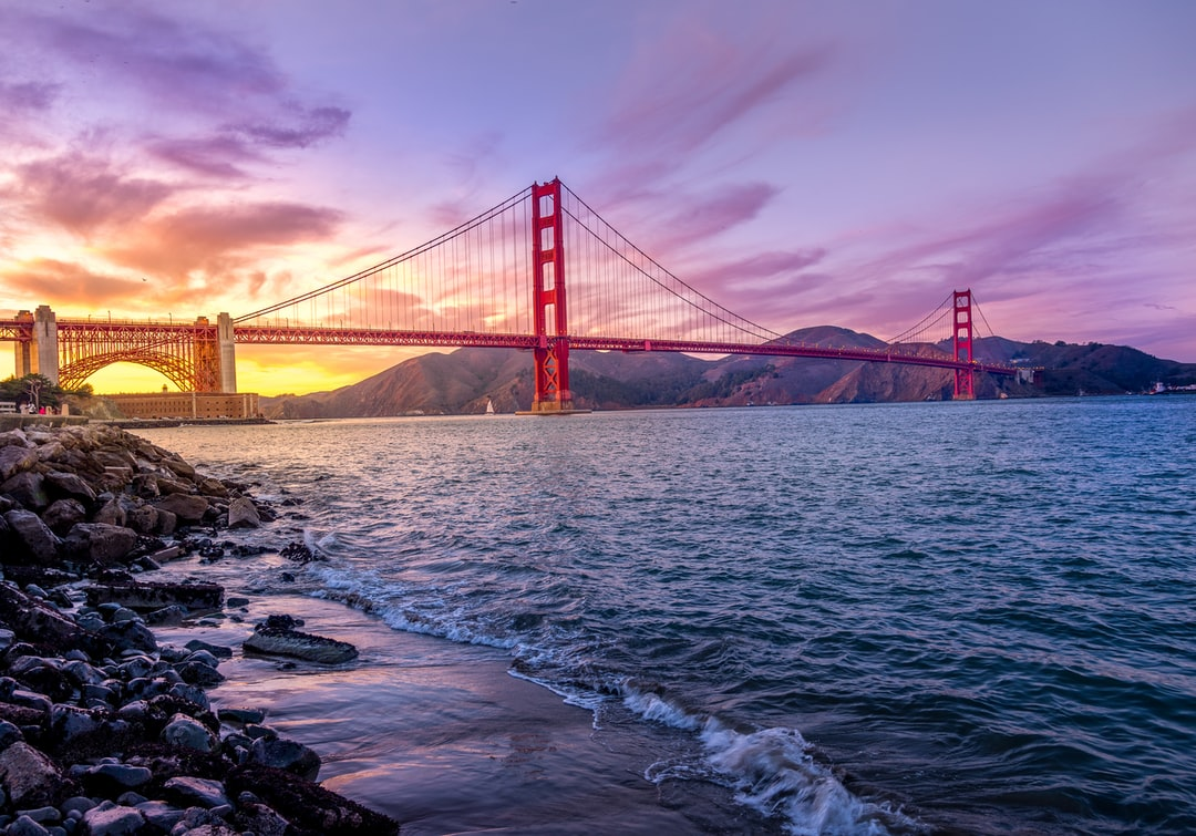 Golden Gate Purple Sunset.