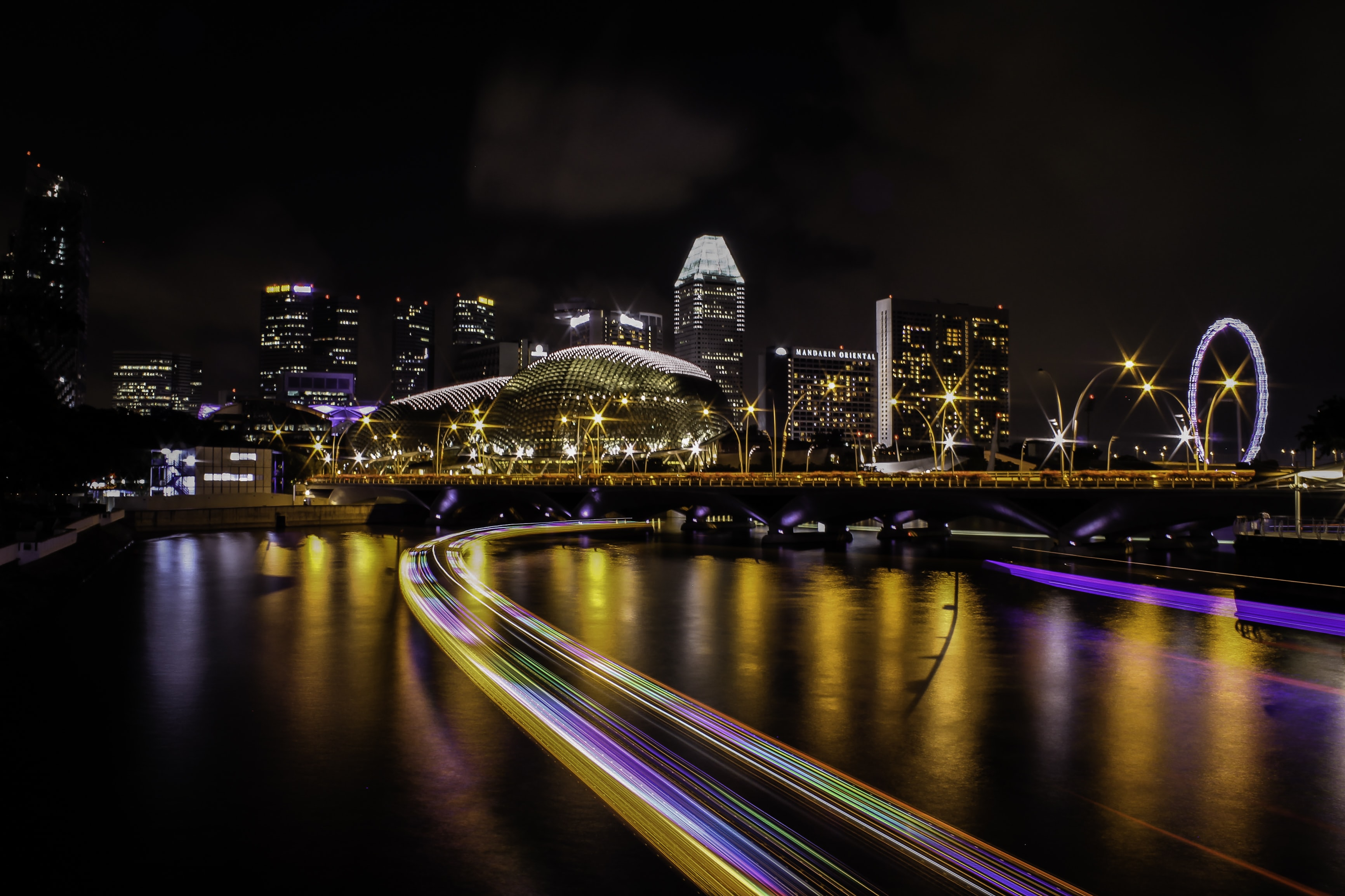 time lapse photo of cityscape during nighttime