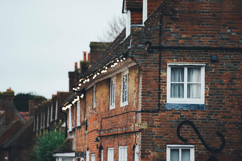 brown brick buildings