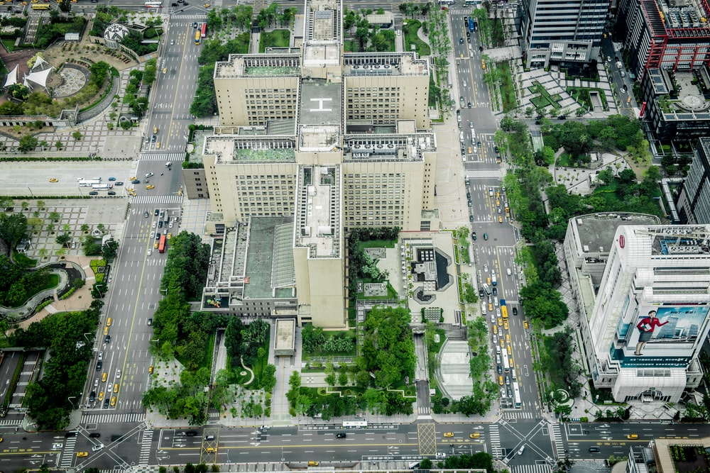 aerial view of high rise building during daytime