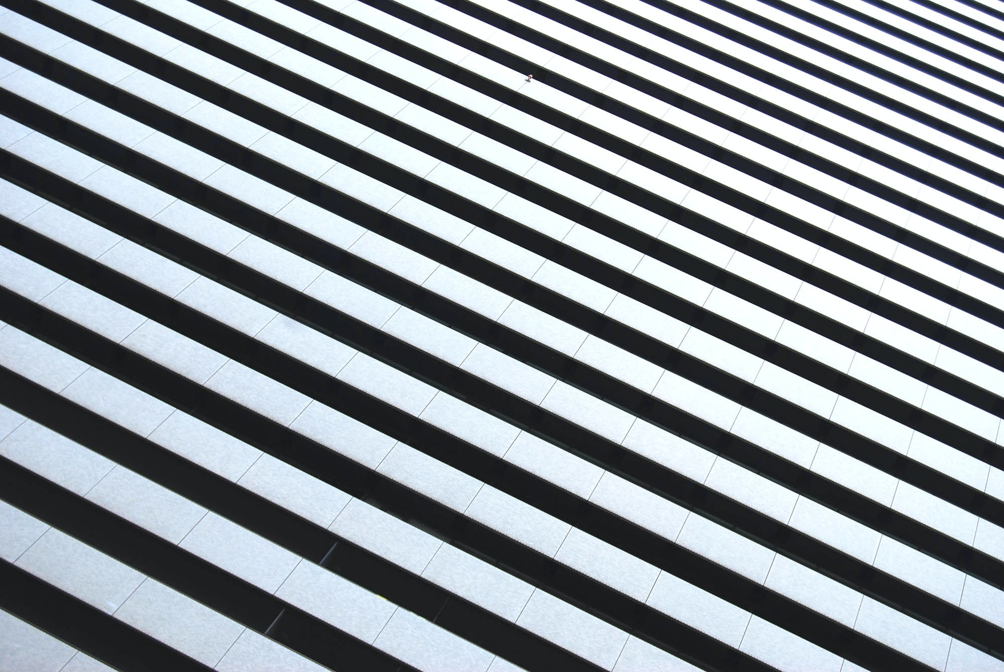 Black and white tiled floor close up in Osaka