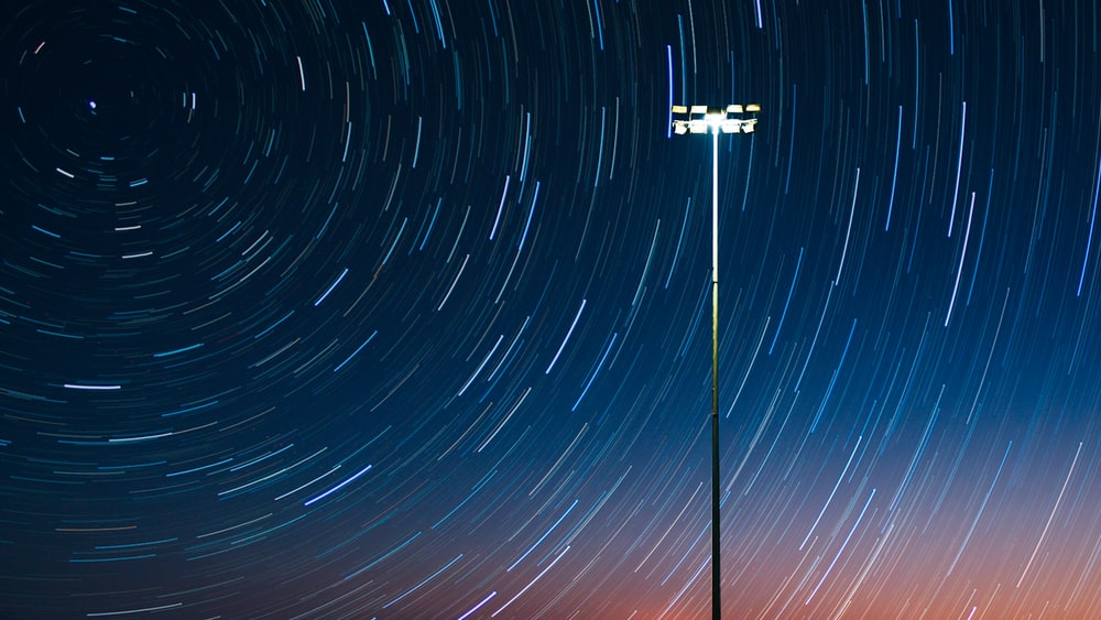time lapse photography of stars
