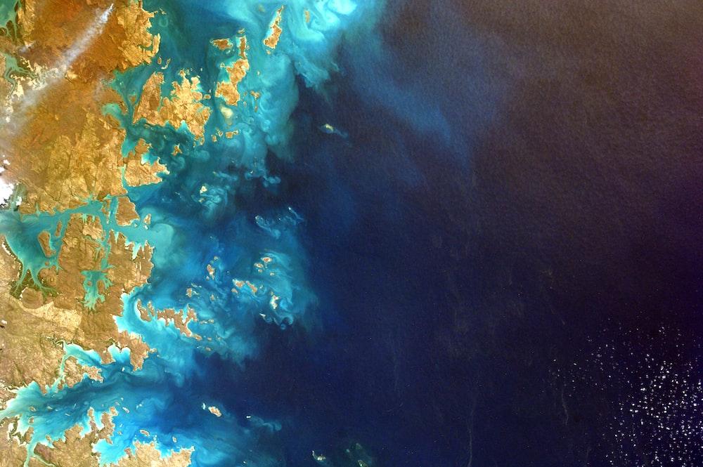 aerial photo of coastline