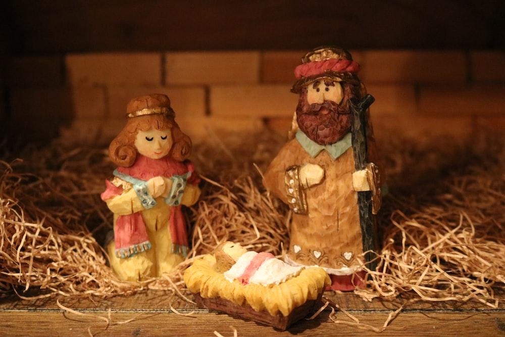 threereligious figurines