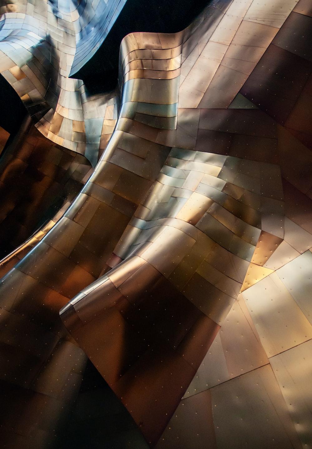 wave of brown metal 3D artwork