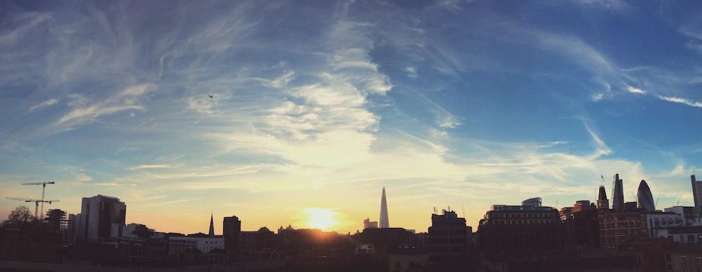 panoramic photo of city