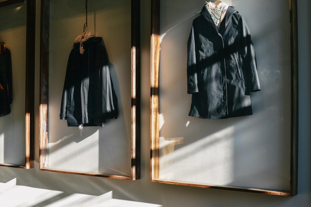 black and gray coat