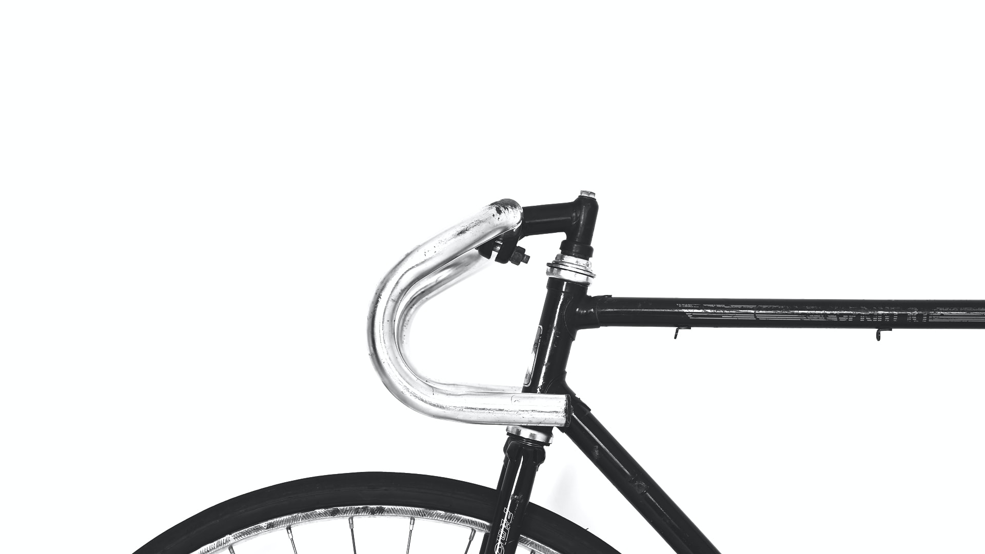 black and gray road bike