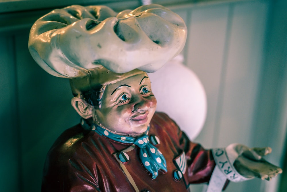 chef ceramic figurine
