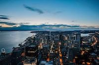 city buildings under blue sky photography