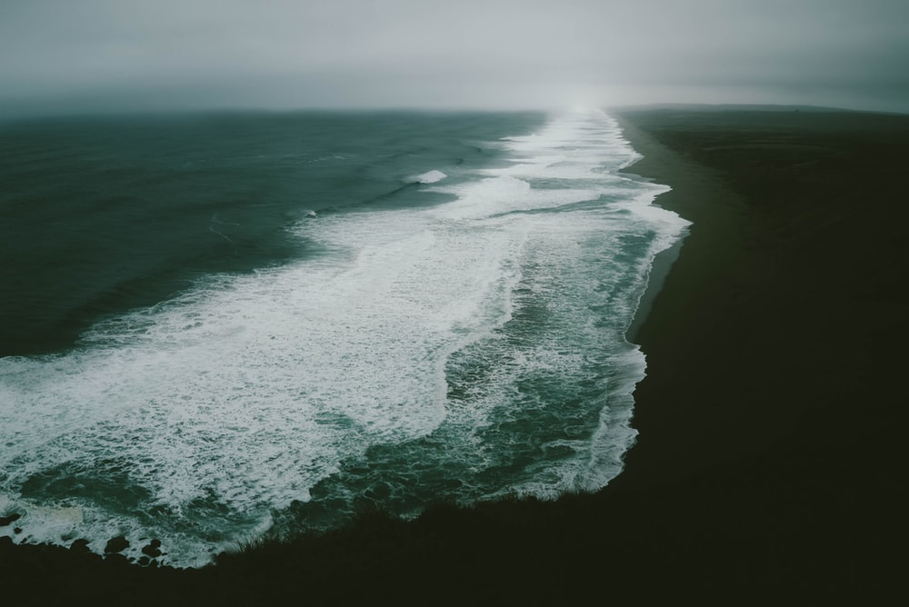 timelaspe photography of seawaves