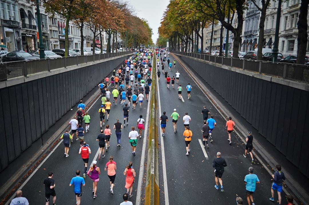 Brussels marathon runners