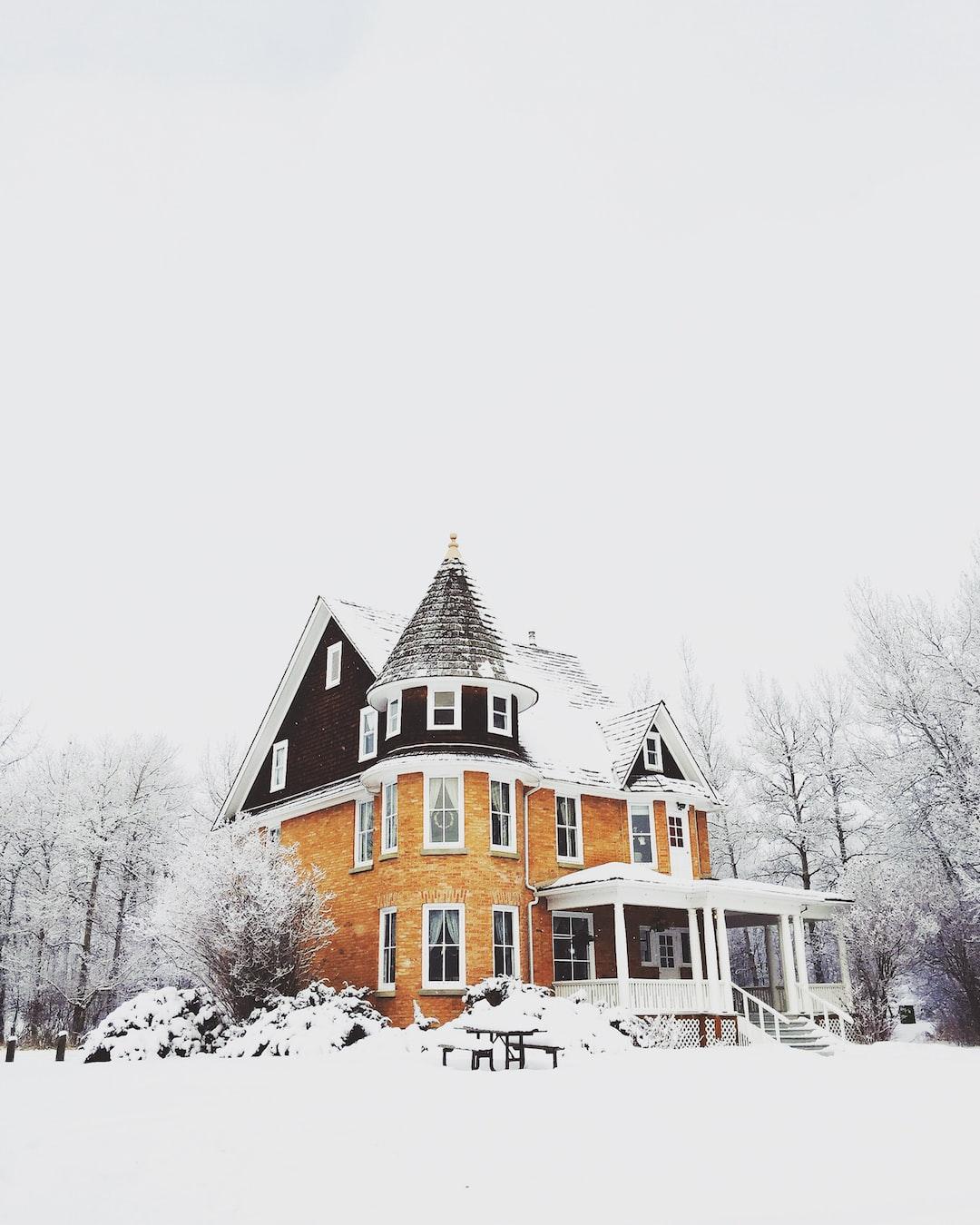 Elegant house under snow