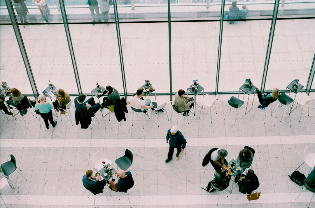 People at lunch from above