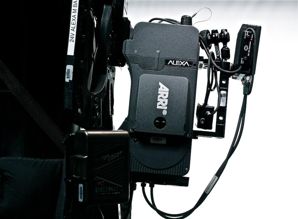 rectangular black Alexa corded electronic device