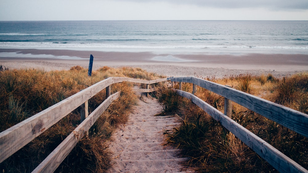 stairs through beach