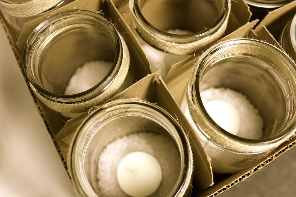 glass jar lot