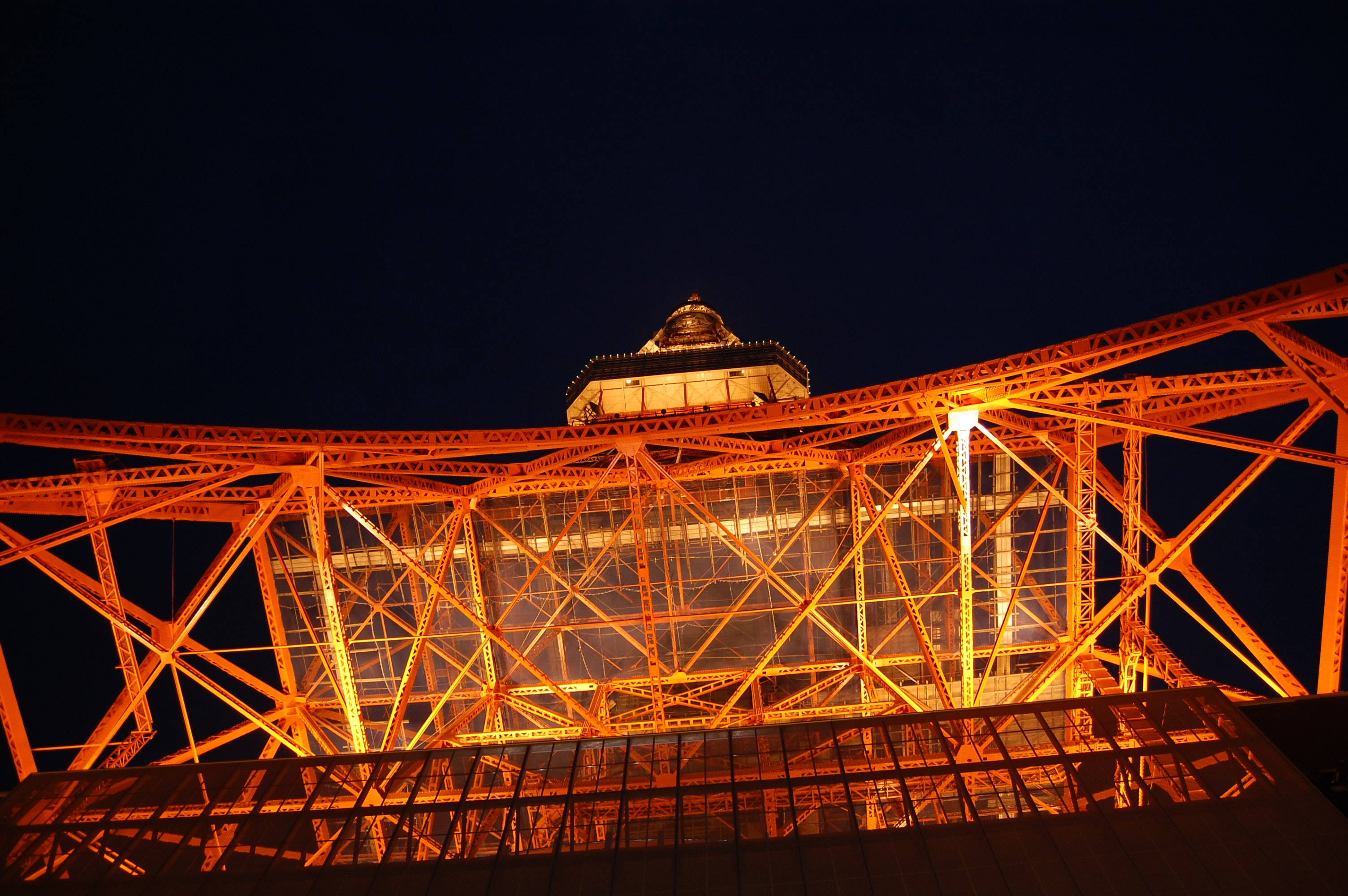 Eiffel Tower, Paris during nighttime low angle photography