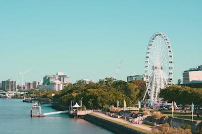Brisbane landscape photography of city near river