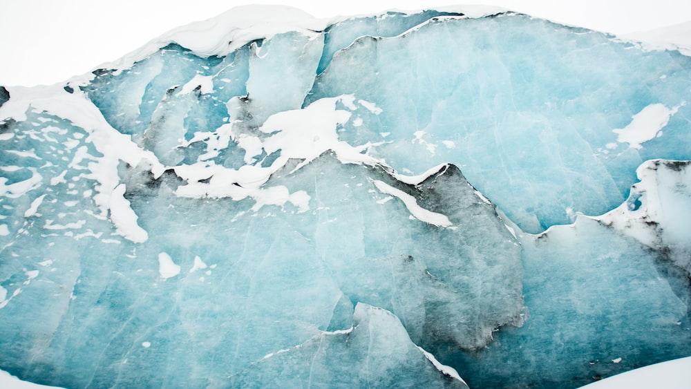 cracked ice floor