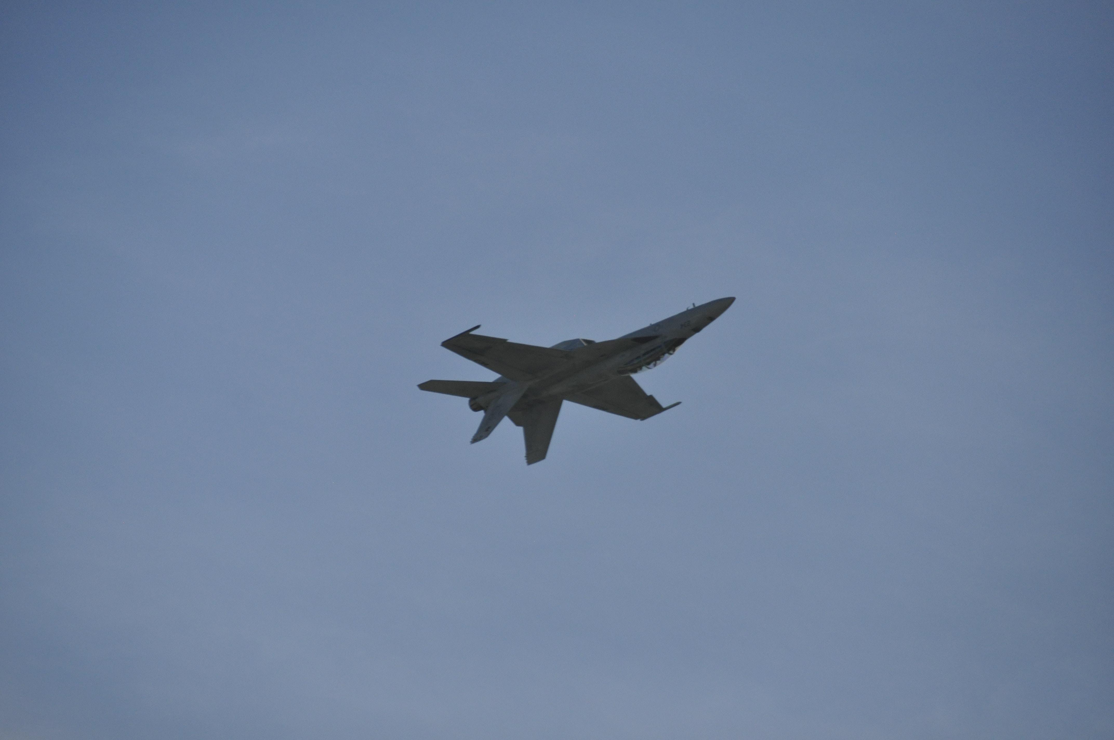 grey aircraft