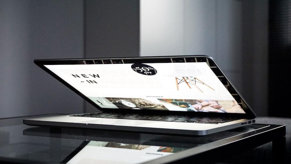 turned on MacBook Pro