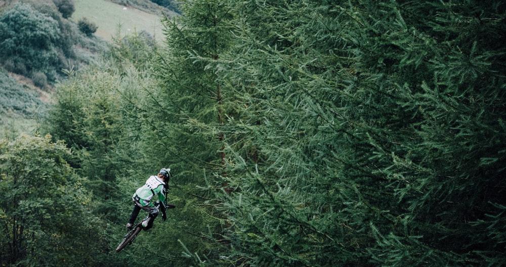 person riding bike
