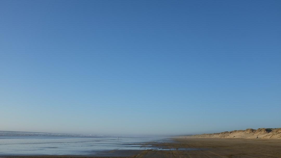 Sand coastline view