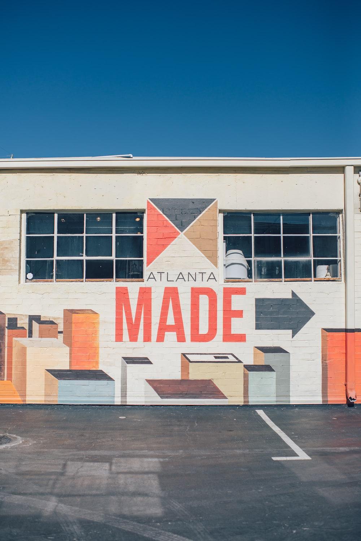 Atlanta Made printed building under blue sky during daytime