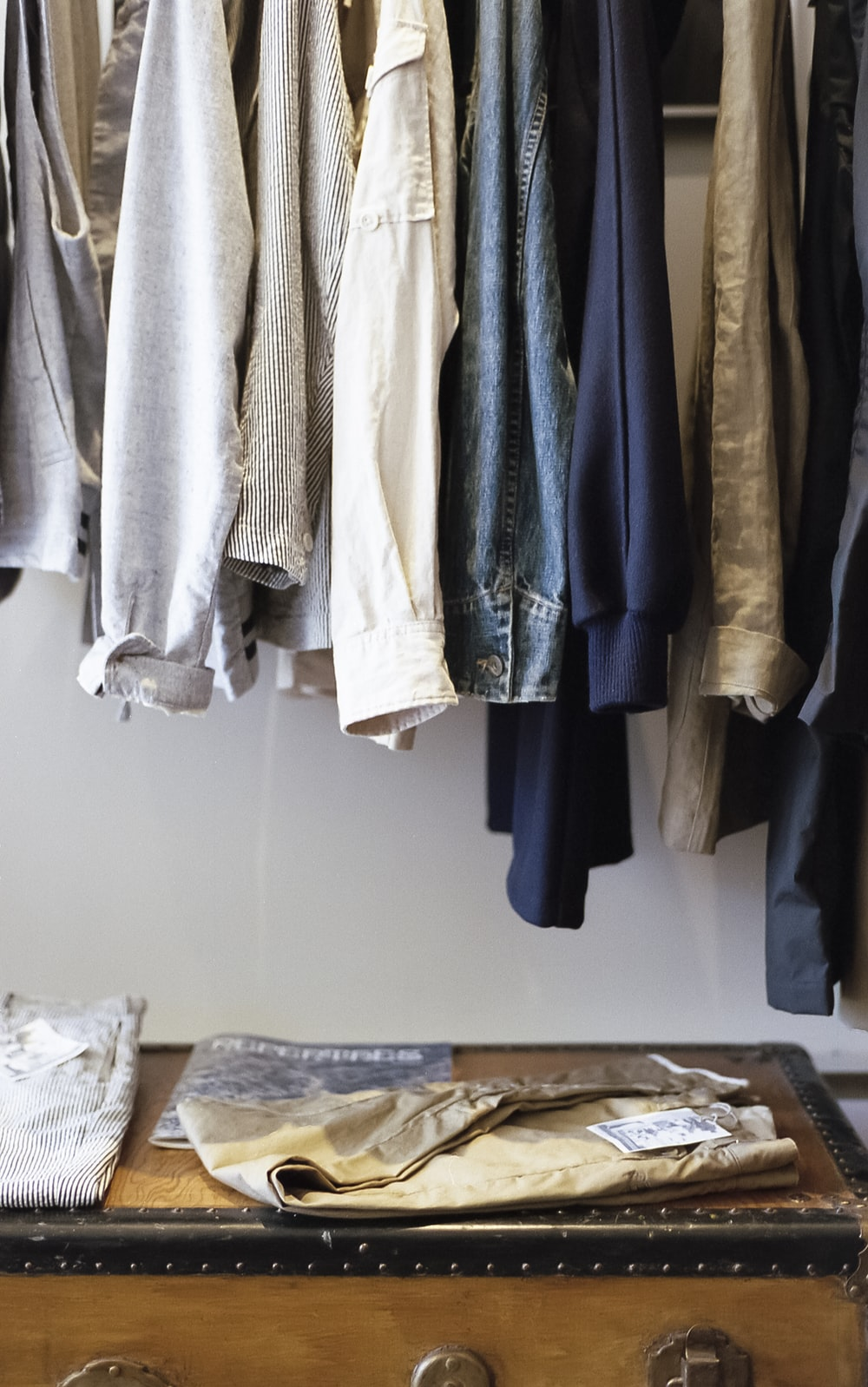 hanging clothes lot