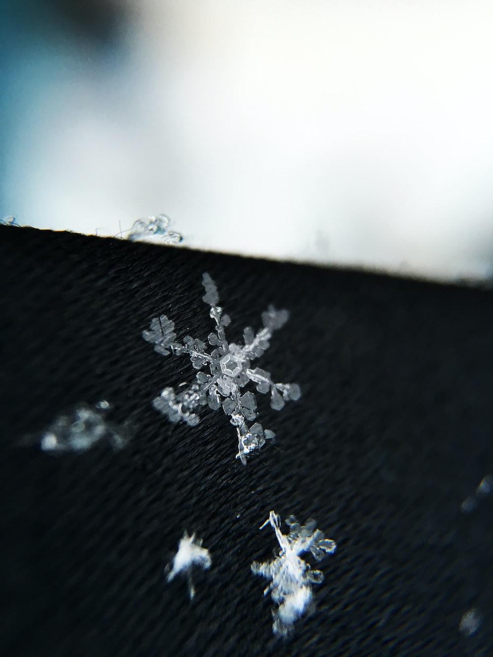 white snowflake patch