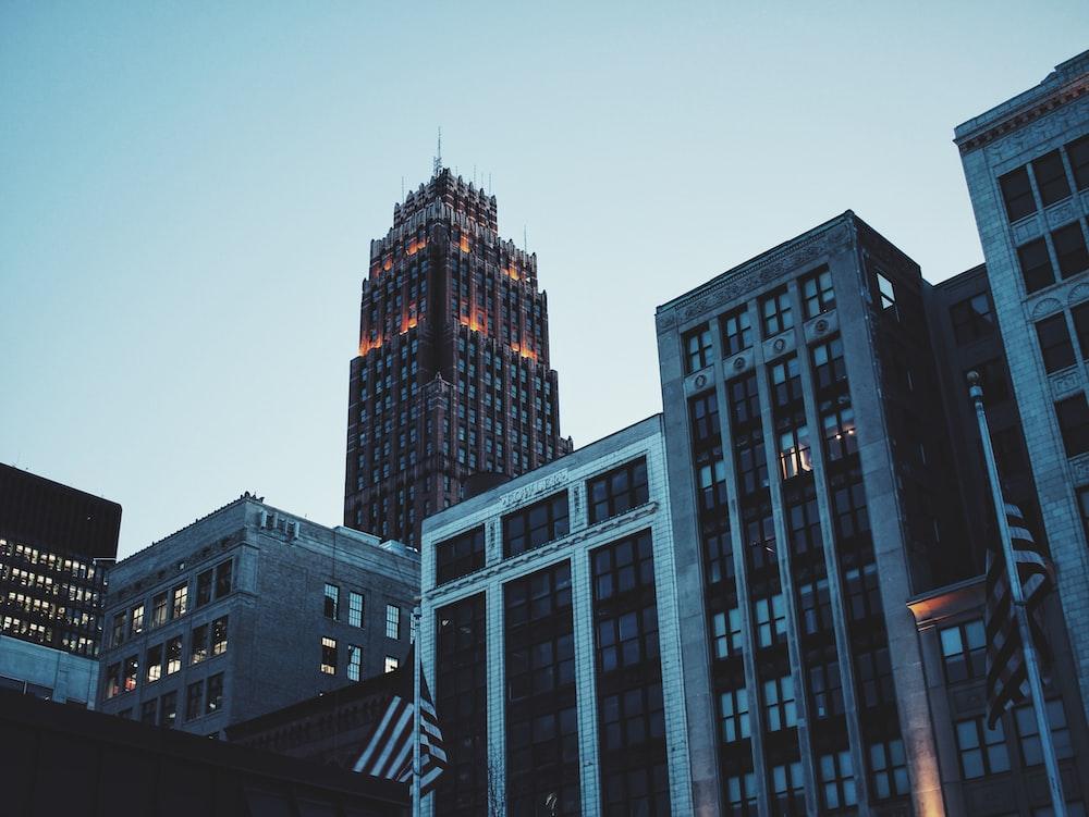 gray building at night