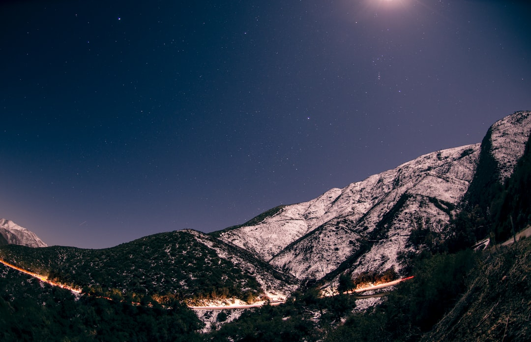 San Diego mountains at night