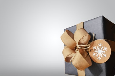 brown and black gift box gift zoom background