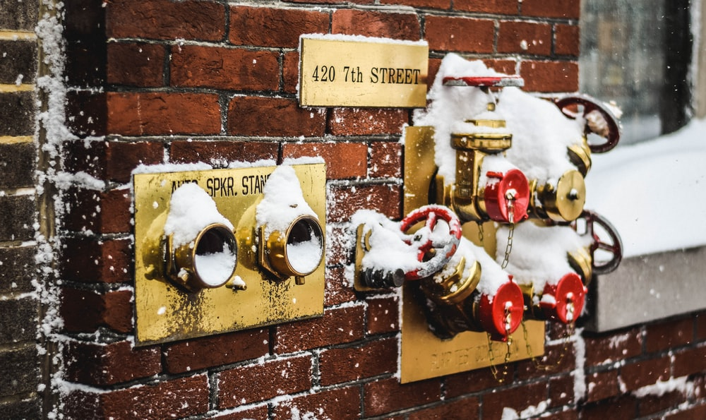 valves with snow