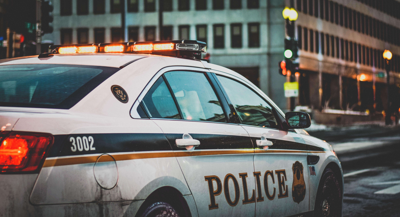 police car at street
