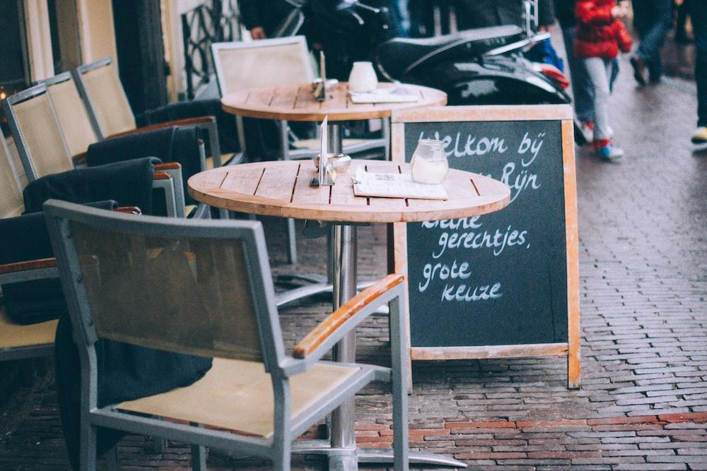 empty cafe near street