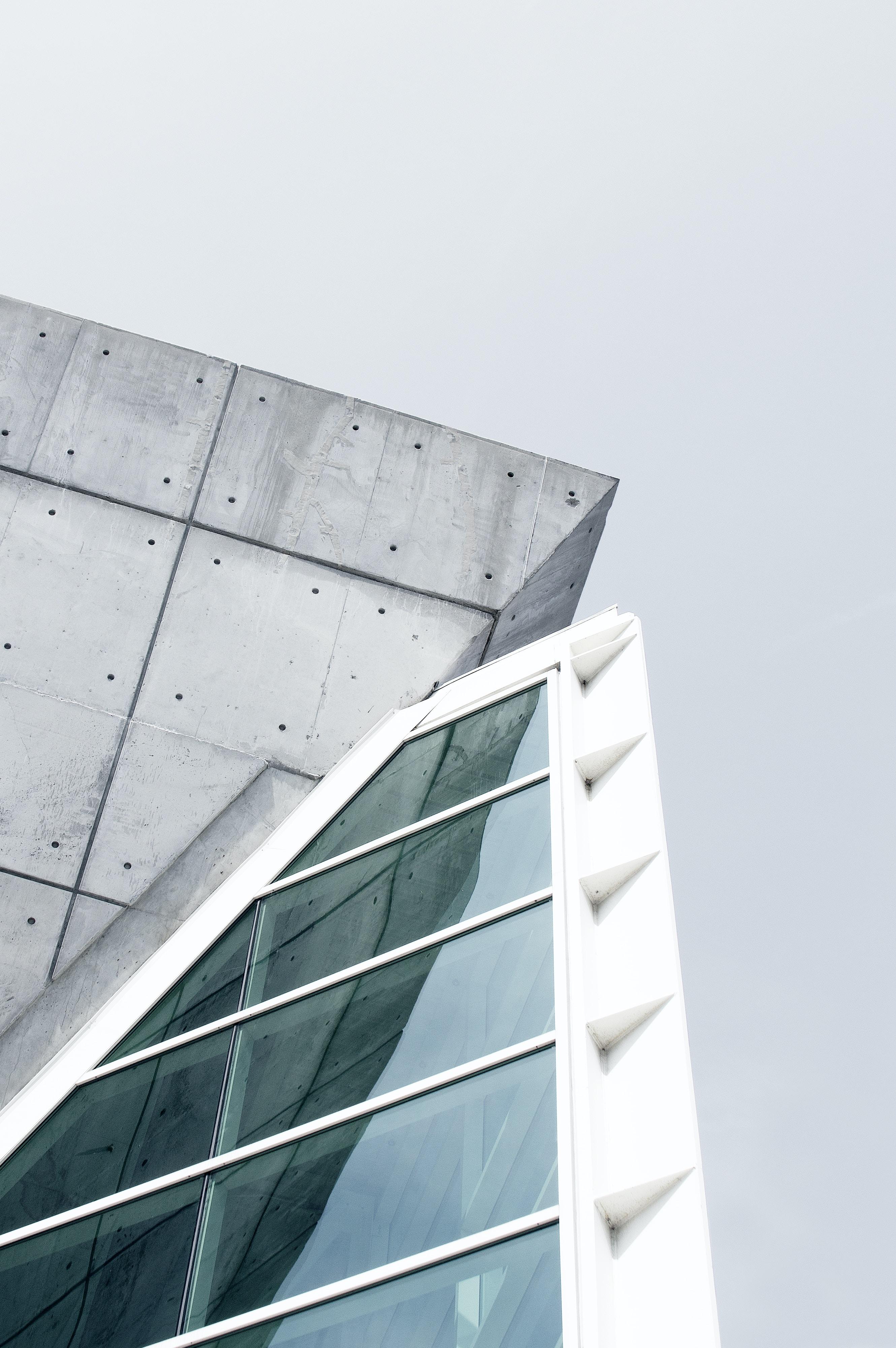 gray and white concrete building