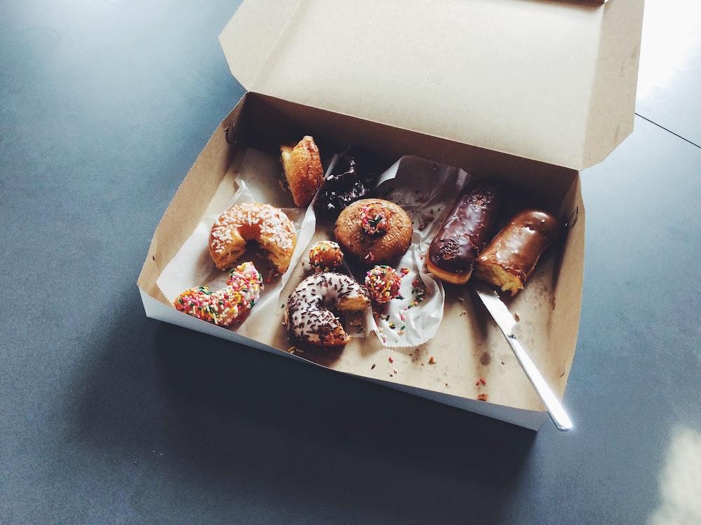 doughnuts on box