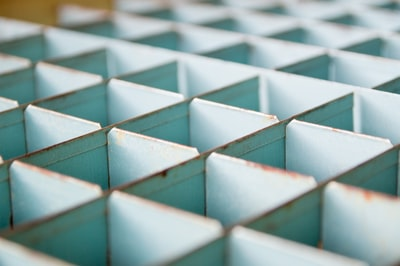 gray metal cube container