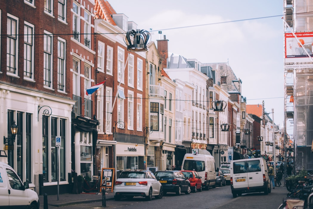The busy streets and attractions in Hague