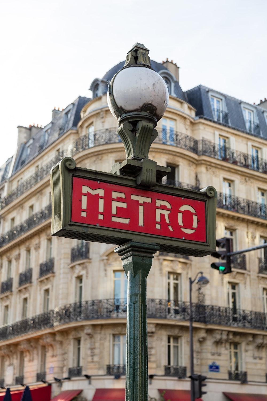 Metro street signage