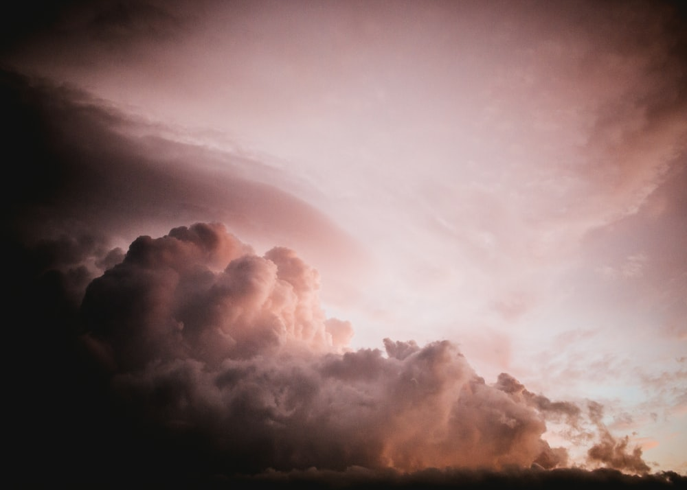 white cumulus clouds photography